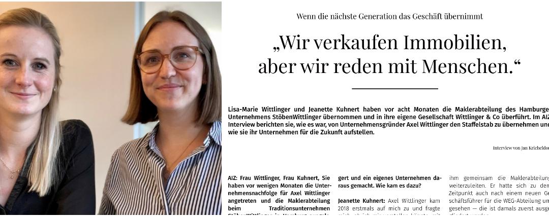 """""""Wir verkaufen Immobilien, aber wir reden mit Menschen"""" – Interview mit Jan Kricheldorf in der AIZ"""